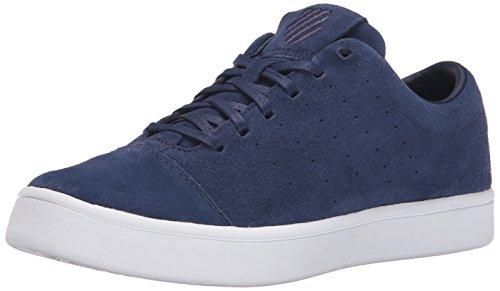 K-Swiss Men's Washburn Suede Fashion Sneaker, Navy/White, 11 M US