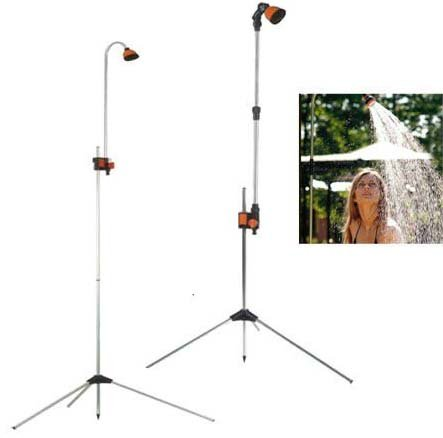 Multi-Purpose Portable Telescopic Garden Shower with Tripod Base