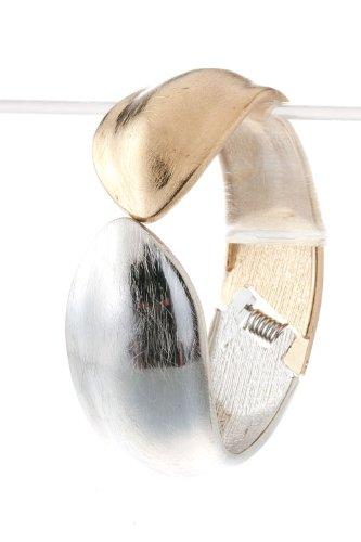 The Jewel Rack Brushed Metal Bracelet (Matt Gold/Matt Silver)