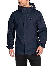 Jack Wolfskin Men\'s Cloudburst Jacket, Medium, Night Blue