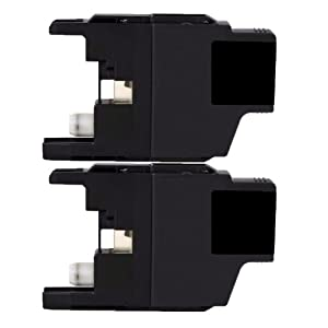 2 Inktoneram® Replacement ink cartridges for Brother LC71BK Black Ink Cartridge replacement for Brother LC-71 BK