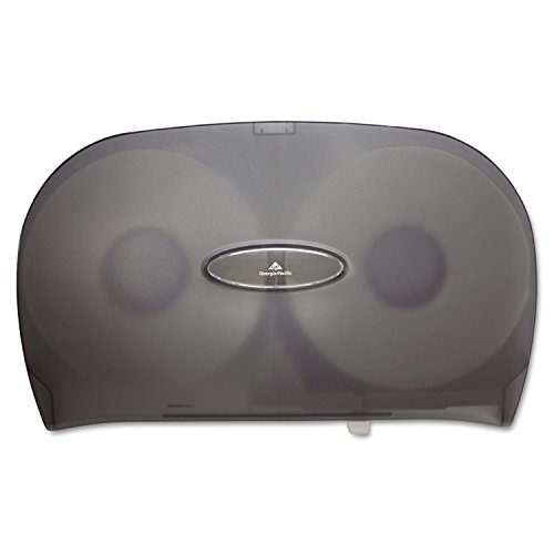 Georgia-Pacific GP 59209 Translucent Smoke Jumbo Jr. Two Roll Bathroom Tissue Dispenser, 20.02