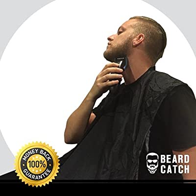 Beard Catcher - No Clogged Sinks. Easy Disposal. No Mess. Keep the Girlfriend Happy! A beard trimmings catcher to clean up mess in 10 seconds - Best Beard Grooming Gift for Gentleman 2016