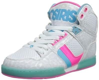 Osiris Shoes Womens NYC83 SLM White/Blue/Cheetah Skateboarding 4 UK, 37 EU
