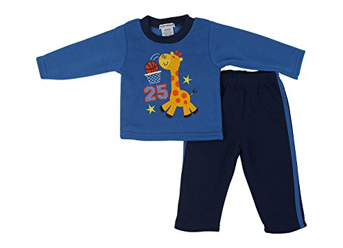 Alfa Global Baby-Boys Infant Two-Piece Fleece Set Blue 4 Years front-650196