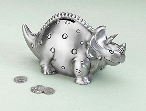 Dinosaur Pewter Bank - 1