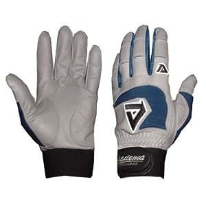Adult Gray Batting Gloves (Royal) (Medium)