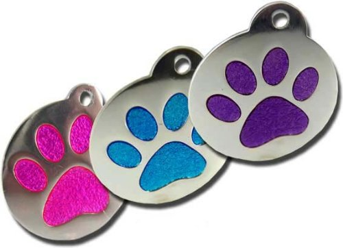 Charming Glitter Paw Pet Tag