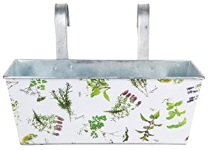Esschert Design Herb Print Galvanized Steel