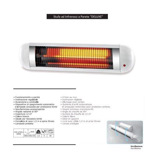 Stufa prezzi stufa ad infrarossi a parete deluxe r 600 - Stufa elettrica ad infrarossi ...
