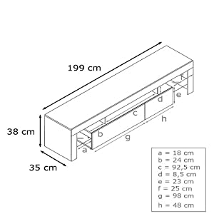 TV Stand Unit Lima V2 in  /  High Gloss in stock
