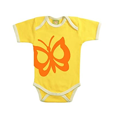 Positively Organic - Happy Print Short Sleeve Baby Body Suit