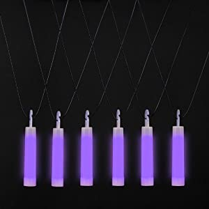 Purple Light Stick Necklaces (12) Party Supplies