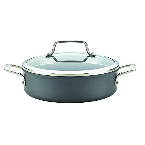 Anolon Authority Hard-Anodized Nonstick Covered Favorites Pan, 3 quart, Gray