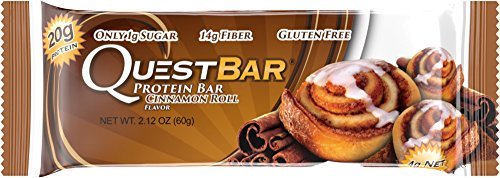 Quest Nutrition Protein Bar, Cinnamon Roll, 20g Protein, 2.12oz Bar, 12 Count (Quest Protein Cinnamon Roll compare prices)