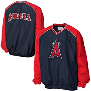 Los Angeles Angels of Anaheim MLB Mens Double Play Pullover V-Neck Jacket by G-III Sports
