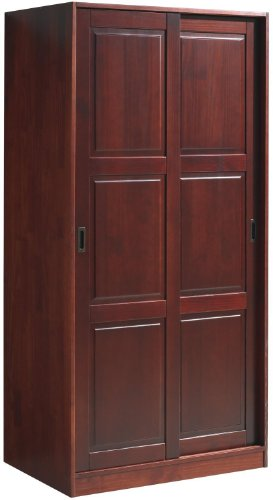 100 Solid Wood 2 Sliding Door Wardrobe Armoire Closet By