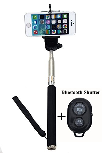 CaseJunction Selfie Stick with Bluetooth Shutter Remote Telescopic Monopod for All Smartphones