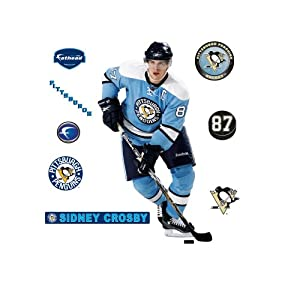 NHL Sidney Crosby Blue Retro Jersey Pittsburgh Penguins Wall Decal by Fathead