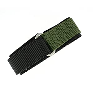Watch Band Nylon One Piece Wrap Sport Strap Military Adjustable Velcro 18 millimeter