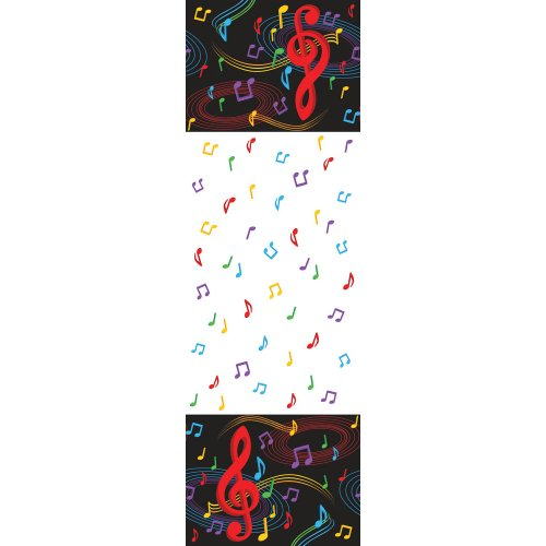 Dancing Music Notes Plastic Tablecover Birthday Dance Party Supply