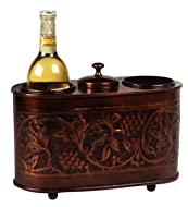12.5 x 6 x 9.25 Antique Embossed 2 Bottle Wine Chiller