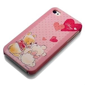 PGA iPhone4S / iPhone4対応 ディズニーキャラクター ラバーコート ハードケースケース くまのプーさん PG-IJK574POO