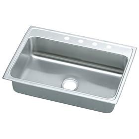 Elkay LRQ31224 Gourmet Lustertone Sink, Stainless Steel