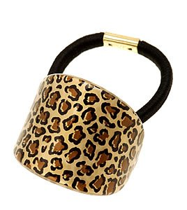 France Luxe Oval Ponytail Holder - Wild Cat