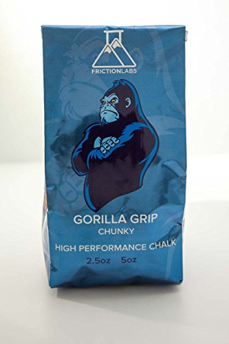 Gorilla Grip 5oz (142g) - Chunky Blend - High Purity Magnesium Carbonate Rock Climbing Chalk - Climb Your Impossible with FrictionLabs
