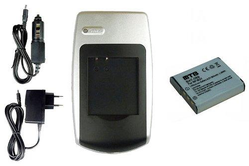 Chargeur + Batterie NP-BG1, FG1 pour Sony Cyber-shot DSC-HX9V, HX10, HX10V, HX20V, HX30