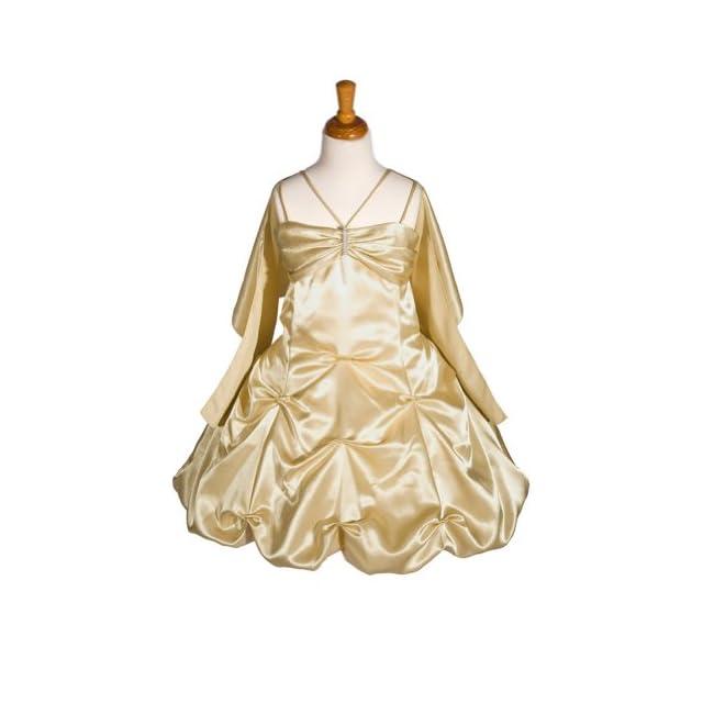 187f5f11cd2 AMJ Dresses Inc Girls Gold Flower Girl Formal Dress Sizes 2 to 14 on ...