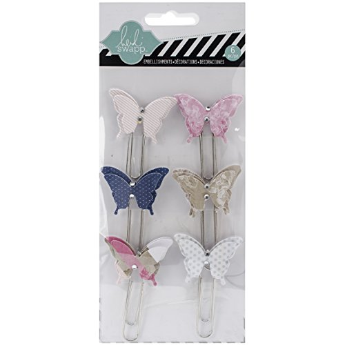 hello-today-dimensional-butterfly-large-paper-clips-6-pkg-w-rhinestone-accents