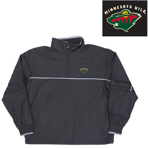 "Buy Minnesota Wild NHL ""Omni"" Pullover Windshirt (Black)"