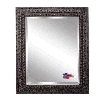 American Made Rayne Dark Embellished Mahogany Beveled Wall Mirror, 39.5 X 45.5 front-521323