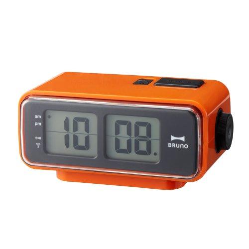 BRUNO LCDレトロアラームクロック S オレンジ BCR003-OR