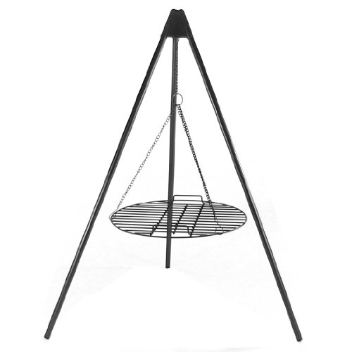 Sunnydaze Tripod Grilling Set with Cooking Grate, 22 Inch Diameter