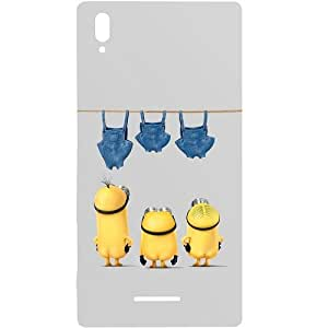 Casotec Minion Moivie Design Hard Back Case Cover for Sony Xperia T3