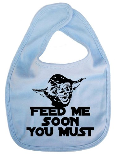 """Image is Everything - Bavaglino con Yoda e scritta """"Feed me soon you must"""""""