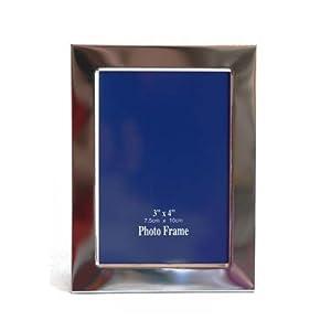 HAB&GUT© (frchr-I) Bilderrahmen - CLASSIC - Chrom/Edelstahl Außen: 10x13cm, Bildsichtfeld: 7,2 x 10,5cm