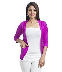 Teemoods Womens Viscose Shrugs -Purple -Small