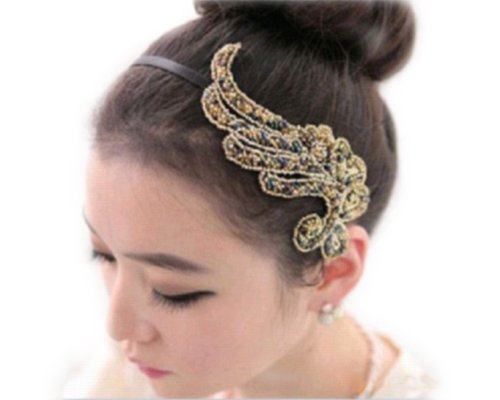 Vintage Bling Phoenix Wing Angel Beads HairBand