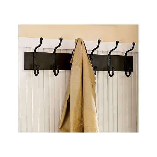 Pottery barn cast iron row of hooks coat hooks kitchen dining - Cast iron row of hooks ...