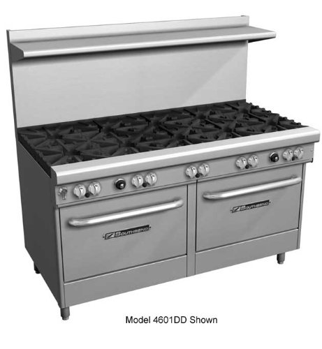 Southbend-400-Series-Ultimate-Restaurant-Range-60-5-Burner-raised-griddlebroiler-1-Std-1-Cnv-Oven-4606AD-2RR
