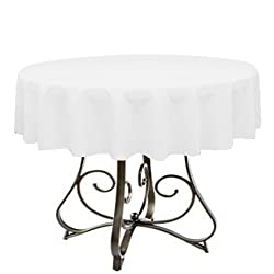 By Florida Tablecloth Factory Round 60' Tablecloth Home Line Indoors (White)
