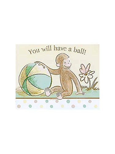 Curious George Baby Shower Invitations w/ Envelopes (8ct)