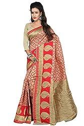 Sanju Splendid Red Art Silk Traditional Wear Saree for Women
