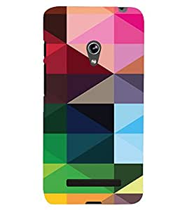 PrintVisa Digital Art Pattern 3D Hard Polycarbonate Designer Back Case Cover for Asus Zenfone 5