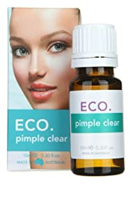 ECO. Pimple Clear Acne Treatment Antibacterial Breakout Lavender Essential Oil Healing Calming and Antioxidant Anti-wrinke Anti-aging Pigmentation Redness Reducer Elasticity Booster Hydration & Skin Rescue Serum Vitamin A Healing Cell Repair Calendula oil