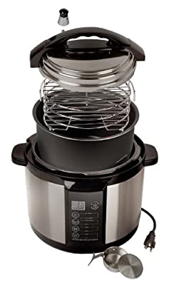 Emson Electric 5Qt Smoker- The Only Indoor Pressure Smoker-Cook Your BBQ Brisket, Pressure Smoke Cold Cheese Or Fish